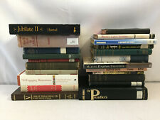 Christian Ministry Books Sermons Preaching Worship Illustrations Lot of 22