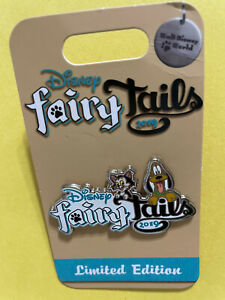 Disney Pin WDW FairyTails 2019 Event Logo Welcome Gift Figaro Pluto LE 1250