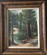 """Original Oil Signed Anna Sierra In Beautiful Arts & Crafts Frame 27"""" X 23"""""""