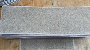 8x24.00inches(20x61cm) WARM BROWN FLECK STAIR PADS *WOOL* #5009