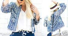 Zara size M Embroidered Jacket Blazer Cardigan veste broderie perles 0881/200