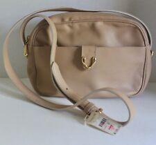 Vintage Talbots Italy Beige Leather Crossbody Purse Handbag New With Tag