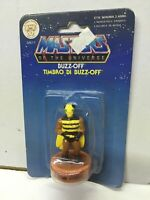 """Mattel Masters of Universe He-Man Stamper STAMP Serie 1 BUZZ-OFF 2.5"""" MOC, 1985"""