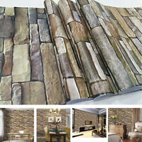 Metope Beautification Decorative Paster Stickers Wall Paper Stone Stripe