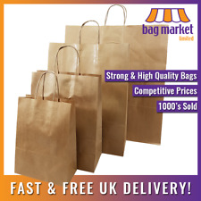 Strong Brown Twisted Handle Paper Bags Kraftcarriertwistgiftfashionparty