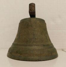 "Vintage 1878 Saignelegier Chiantel Fondeur  Cow Bell  Bronze Brass 4"""