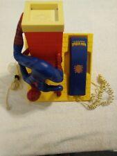 Vintage 1984 Spider-man Comic Action Figure House Telephone