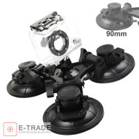 90mm cups - Triple Suction Cup Mount FOR GoPro HD Hero 1 2 3 3+ 4 Session Camera