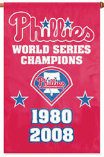 PHILADELPHIA PHILLIES WORLD SERIES YEARS Official MLB Premium WALL BANNER