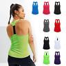 Ladies Running Training Yoga Vest Strap Mixed Colours Womens Tridri Gym