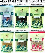 Arya Farm 100% Certified Organic Whole Spice Combo Pack Free Shipment