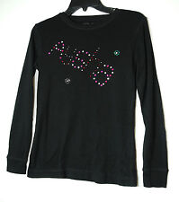 BLACK LADIES CASUAL LONG SLEEVE TOP SIZE 12 ATMOSPHERE