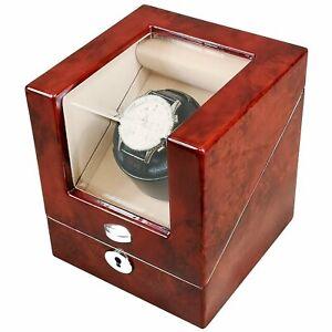 Single Laminated Makah Burlwood Square Automatic Watch Winder