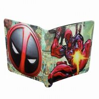 Stylish NEW Marvel Comic Deadpool Ninja Logo Shooting Gun Bi Fold Wallet
