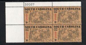 ALLYS STAMPS US Plate Block Scott #1407 6c South Carolina [4] MNH [STK]