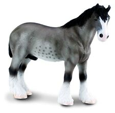 New CollectA Grey Clydesdale Horse Toy Figure  88155 -  FREE UK DELIVERY !