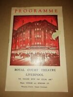 ROYAL COURT THEATRE LIVERPOOL * THE BALLET RAMBERT * ORIGINAL PROGRAMME 1953