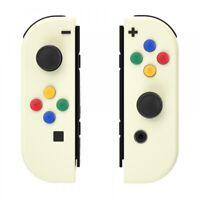 Light Cream Controller Shell + ABXY Direction Buttons For Nintendo Switch JoyCon