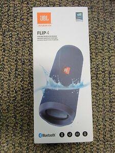 Brand New Sealed JBL Flip 4 Waterproof Portable Bluetooth Speaker - Ocean Blue