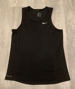 Nike DRI-FIT Tank Top Mens Black Medium