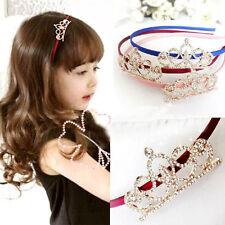 Kids Girls baby Hair Accessories Princess Tiaras Crowns Butterflies Headbands AU
