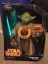 "Star Wars Yoda Talking Figure Light Up 10"" NEW Disney Store Exclusive"