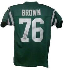 Bob Brown Autographed Philadelphia Eagles XL Green Jersey HOF JSA 10675