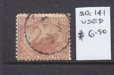 W.A.: 3d Brown Swan Sg 141 Wmk Cr Over A Fine Used.