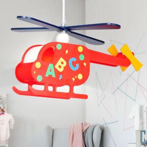 Lustre chambre d'enfant luminaire suspension hélicoptère multicoloré Globo 15722