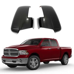 2013-2018 Dodge RAM 1500 2500 3500 Side Mirror Cover W/Turn Signal Cut-Out Black