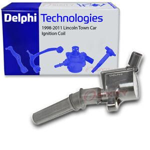 Delphi Ignition Coil for 1998-2011 Lincoln Town Car 4.6L V8 Wire Boot Spark ci