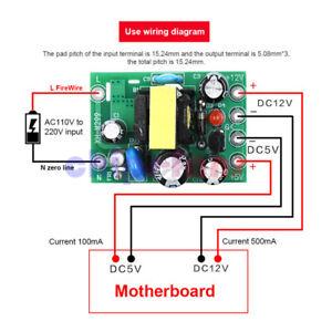 AC-DC Switching Power Supply Module Isolation PCB Board AC 110-220V DC 5V 12V