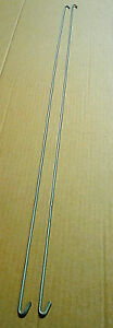 Set of (2) Galvanized Wire cross ties for twin bed rail - 37in Length