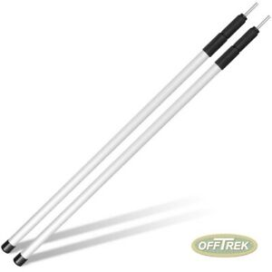 1 x PAIR - PRO Adjustable 80-180cm Awning Poles / Camping Tent Poles VC16NC0106