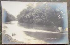 BLACKWELLS MILLS N.J. RIVER SCENE RPPC ANTIQUE REAL PHOTO POSTCARD