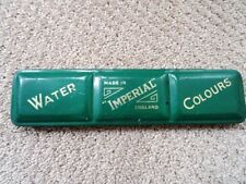 vintage WATER COLOUR PAINT palette 1930s TRAY England IMPERIAL children's toy