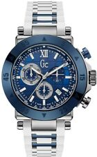 New GUESS Collection White and Blue Silicon Chronograph Men' s Watch X90023G7S