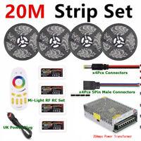 4-in-1 5050 RGBWW LED Light IP20 Non-Waterproof +/- 4Zone Mi-Light RC +/- PSU