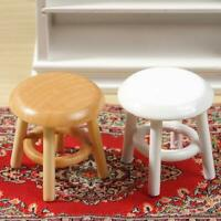Melody Jane Dolls House Miniature Footstool Piano Bench Unfinished K8D8 Woo Q0S1