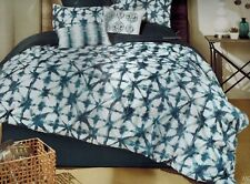 Monah QUEEN COMFORTER 92 x 92 Blue White Pattern **Comforter Only**