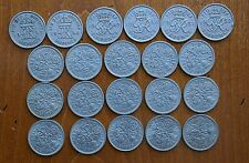 More details for full set of 21 sixpences 1947 to 1967 - selected circulated