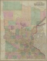A4 Reprint of American Cities Towns States Map Minnesota
