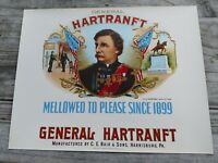 General Hartranft INNER CIGAR BOX LABEL CONSOLIDATED LITHO. NEW YORK C.E. Bair