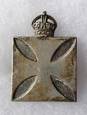 CANADA. ARMY CHAPLAINS CAP BADGE IN PLATED SILVER FINISH.Circa.1914/1918