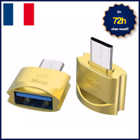 Adaptateur OTG USB 3.0 vers Micro USB, ou Micro USB Type-C Corps Metallique