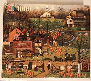 "MB Charles Wysocki  ""Ravenshore Farm"" 1000 Pieces Autumn Pumpkin"