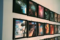 CINEFEX SFX Magazines - the First 100 Issues in custom made wood & glass frames