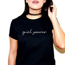 GIRL POWER PRINTED SLOGAN T-SHIRT TSHIRT TOP SPICE GIRLS WORLD TOUR FEMINIST TEE