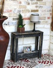 BLACK RUSTIC SIDE TABLE
