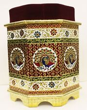 Stool Furniture Indian Traditional Design Metal Gold color coated wooden MB002MF